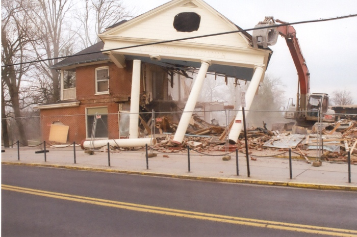 Destruction of Gettysburg Visitor centre
